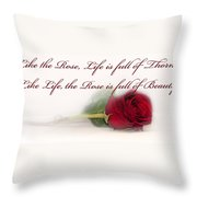 Like The Rose Throw Pillow by Mechala  Matthews