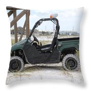 Lil Beach Jeep Throw Pillow