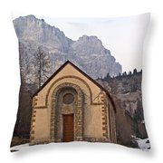 Lil' Brown Church Throw Pillow