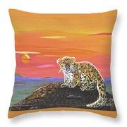 Lil' Leopard Throw Pillow