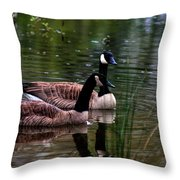 Lila Goose And The King Throw Pillow