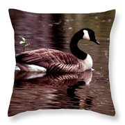 Lila Queen Of The Pond Throw Pillow