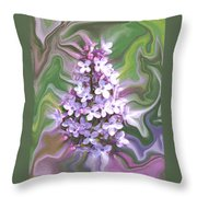 Lilac Abstract Throw Pillow
