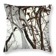 Lilac And Ice Throw Pillow