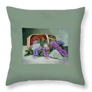 Lilac Basket Throw Pillow