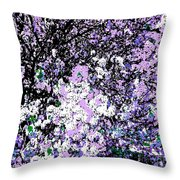 Lilac Crepe Myrtle Bloom  Throw Pillow