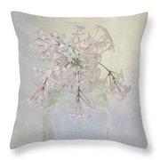 Lilac Flower Throw Pillow