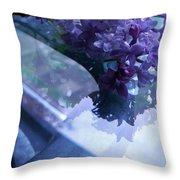 Lilac Glass Throw Pillow
