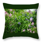 Lilac Heaven Throw Pillow