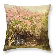Lilac In The Sun, 1873 Throw Pillow