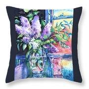 Lilac Light Throw Pillow