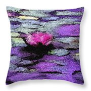 Lilac Lily Pond Throw Pillow