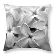 Lilac Macro Throw Pillow
