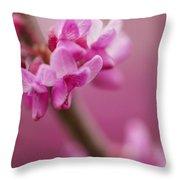 Lilac Macro Throw Pillow