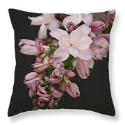 Lilac On Black Throw Pillow