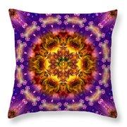 Sacred G Mandala 2 Throw Pillow