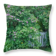 Lilac Season Throw Pillow