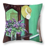 Lilac Time Throw Pillow