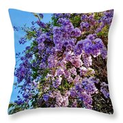 Lilac Tree Throw Pillow