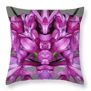 Lilac Twins Throw Pillow