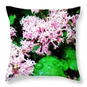 Lilacs After The Rain Throw Pillow