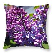 Lilacs Throw Pillow