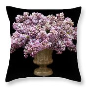 Lilacs In A Green Vase - Flowers - Spring Bouquet Throw Pillow