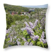 Lilacs On The Hill Throw Pillow