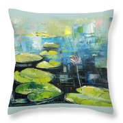 Lilies 1 Throw Pillow