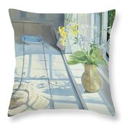 Lilies And A Straw Hat Throw Pillow