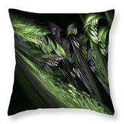 Lilies Of The Fractal Valley Throw Pillow