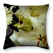 Lilium Casa Blanca Throw Pillow