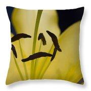 Lilium In Yellow Throw Pillow