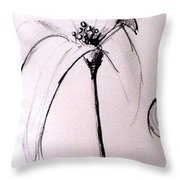 Lilium Observation Throw Pillow