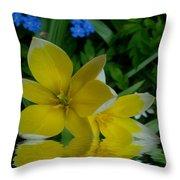 Lilium Of Gold Throw Pillow