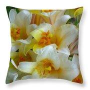 Lilium Regale Throw Pillow