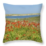 Lillies By The Lake Throw Pillow