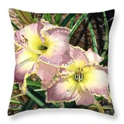 Lillies Clothed In Glory Throw Pillow