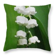 Lillies Of The Valley Cascade Throw Pillow