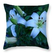 Lillies Throw Pillow