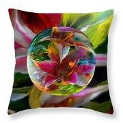 Lillium Bulbiferum Throw Pillow