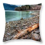 Lillooet Lake Throw Pillow