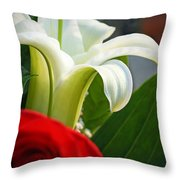 Lilly And Rose Throw Pillow
