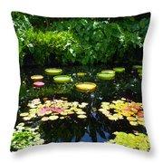 Lilly Garden Throw Pillow