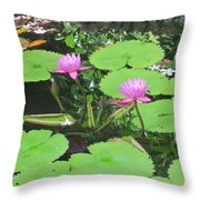 Lilly Pad In Hawaii Throw Pillow