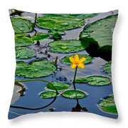 Lilly Pad Pond Throw Pillow