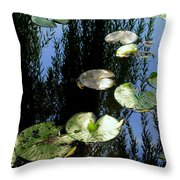 Lilly Pad Reflection Throw Pillow