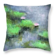 Water Lilly's  Throw Pillow