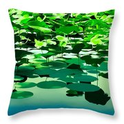 Lilly Pads Of Reelfoot Lake Throw Pillow