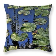 Lilly Pond Throw Pillow